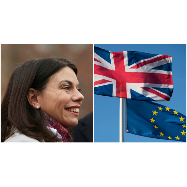 Sarah Olney and flags