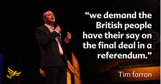 Tim Farron - key Europe plan